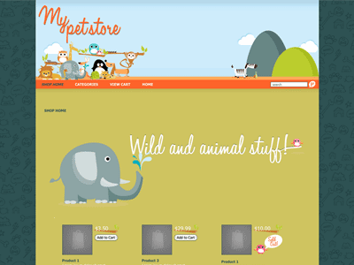 My Pet -Shopping Cart Creator Theme