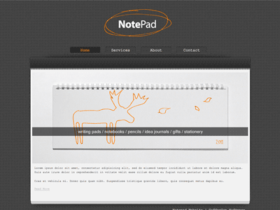 Notepad - HTML Editor Theme