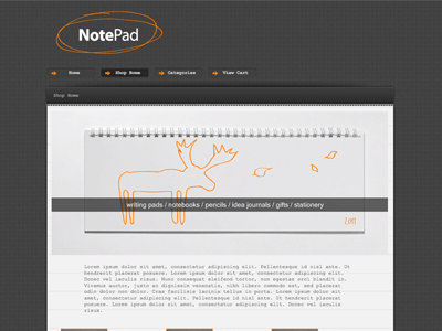 Notepad - Shopping Cart Creator Theme
