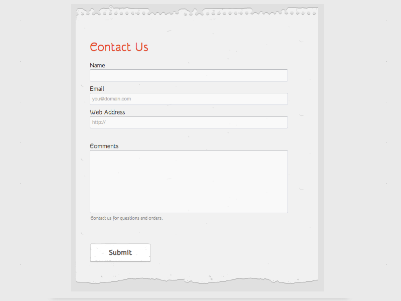 One Note - Web Form Builder (Responsive)