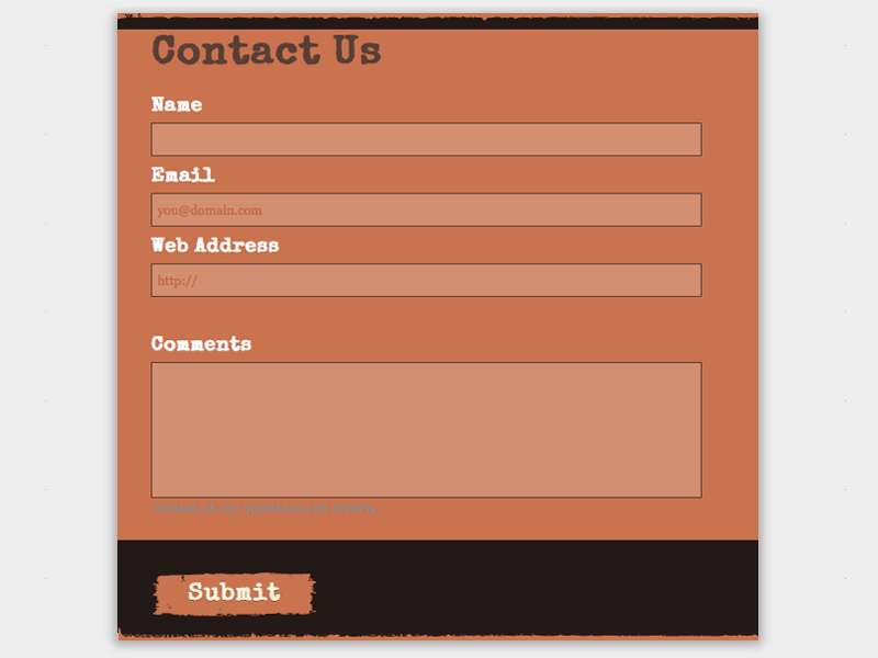 Outdoor - Web Form Builder Theme