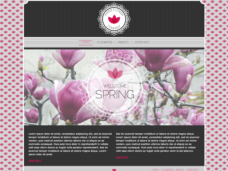 Paper Flower - HTML Editor Theme