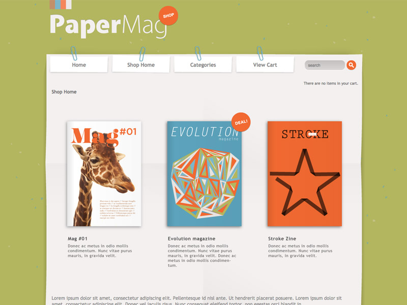 PaperMag - Shopping Cart Creator Theme