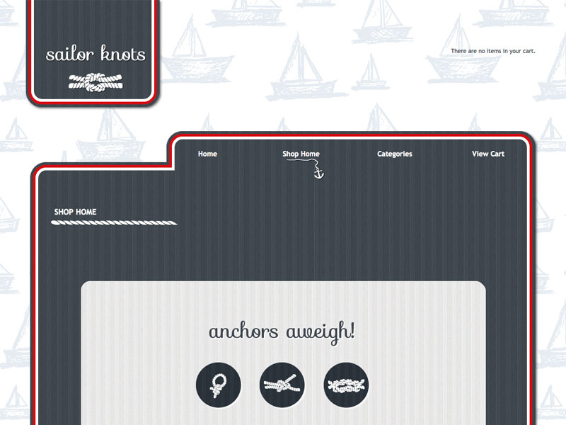 Sailor Knots - Shopping Cart Designer Theme