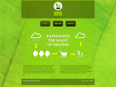 Spring Spaces - HTML Editor Theme