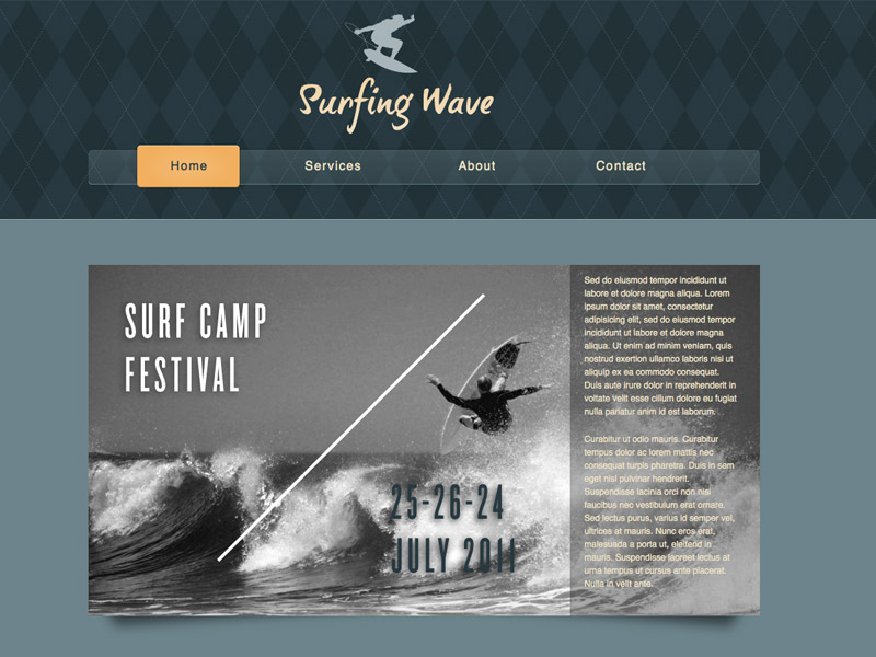 Surfing Wave - HTML Editor Theme
