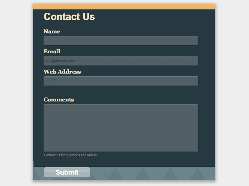 Surfing Wave - Web Form Builder Theme