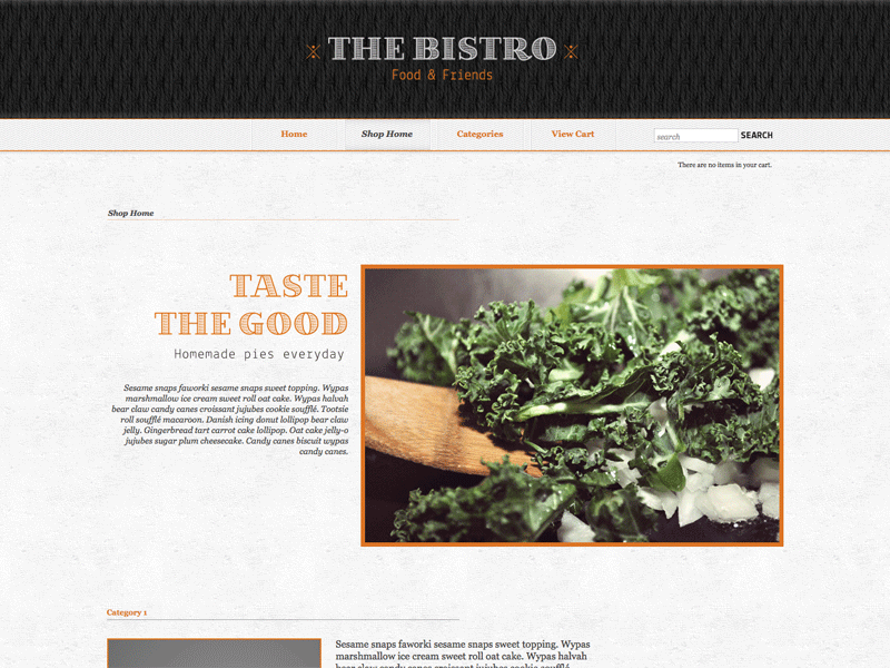 The Bistro - Shopping Cart Creator Theme