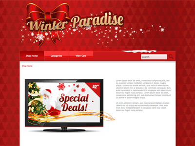 Winter Paradise - Shopping Cart Creator Theme