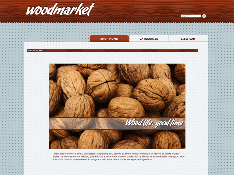 Wood - Shopping Cart Creator Theme