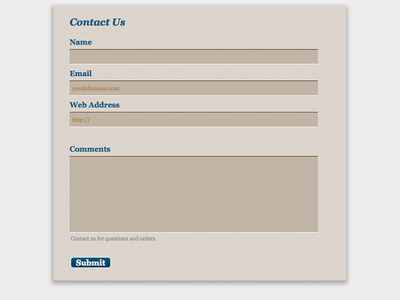 Wool - Web Form Builder Theme