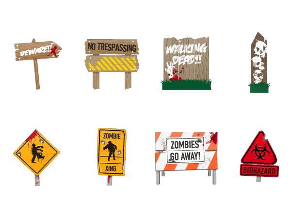 Zombies Signs Graphics Pack