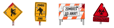 Zombies Signs Graphics Pack (8 files)