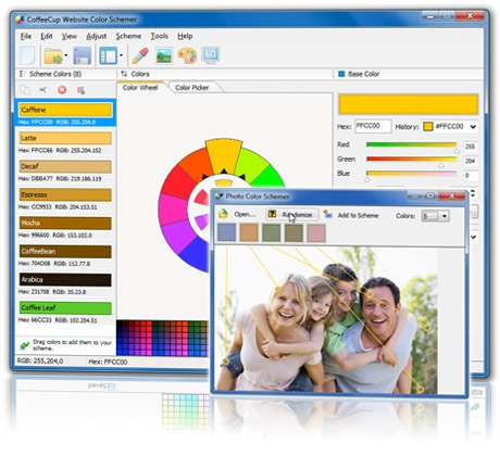 Click to view CoffeeCup Website Color Schemer 4.1 screenshot
