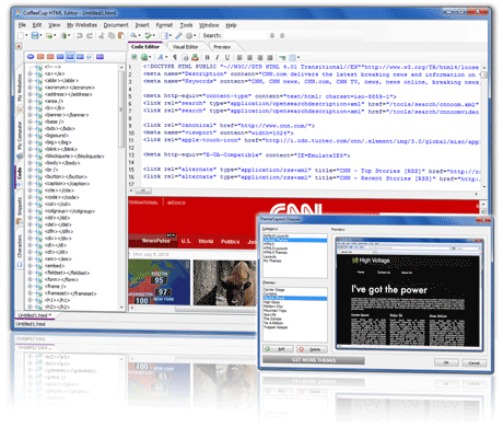 Click to view CoffeeCup Free HTML Editor 9.6 screenshot