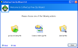 CoffeeCup Free Zip Wizard screen shot