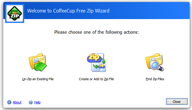 Free Zip Wizard 3.0 Screenshot